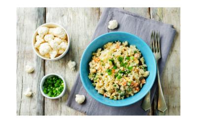 Smażony ryżo- kalafior o niskiej zawartości sodu